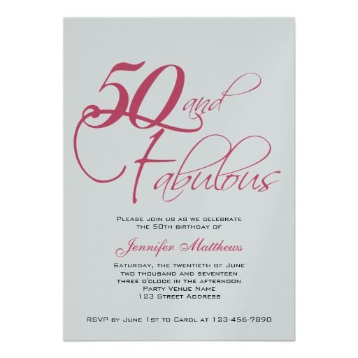 50th birthday invitations pink black silver 50th birthday invitations from zazzlecom
