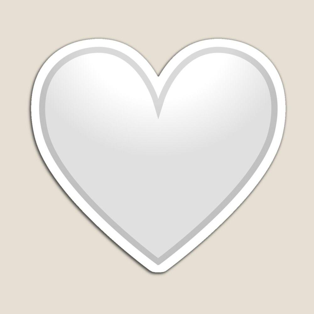 White Heart Emoji Valentine S Day Gift Magnet By Mkmemo1111 In 2021 White Heart Emoji Emoji Valentines Heart Emoji