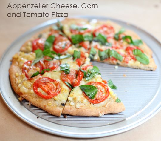 Appenzeller Cheese, Corn & Tomato Pizza