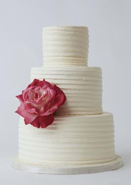 Alternate wedding cake design - simple textured ...