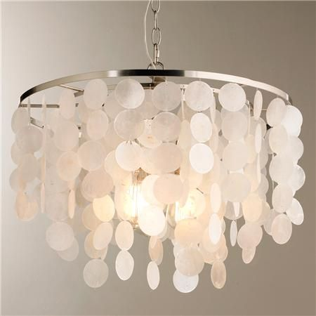 Modern capiz shell chandelier capiz shell chandelier shell modern capiz shell chandelier mozeypictures Images