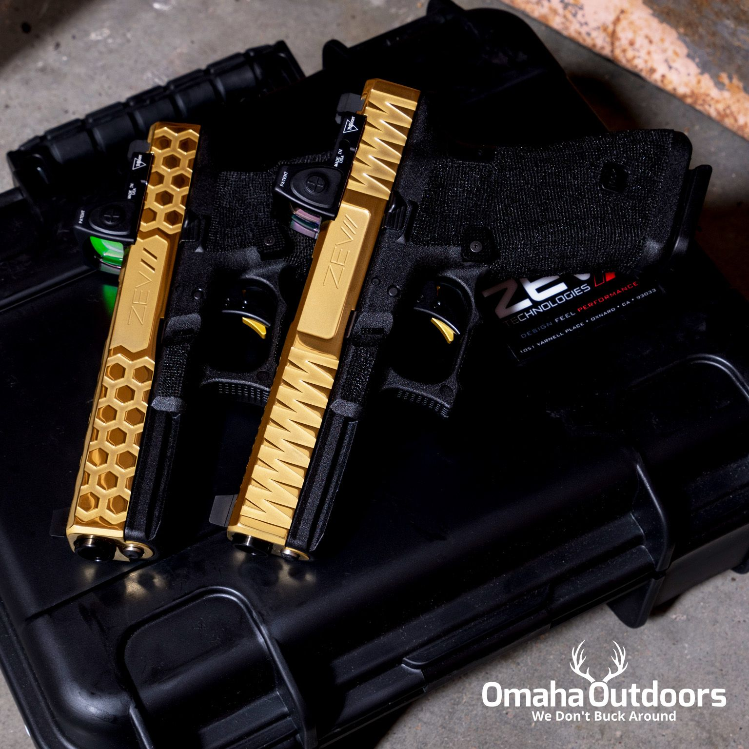 ZEV Technologies Glock 17 Gen 3 with TiN polished slides and