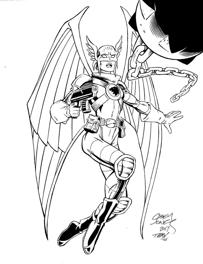 Adult Steampunk Coloring Pages Hawkgirl Coloring Pages Az