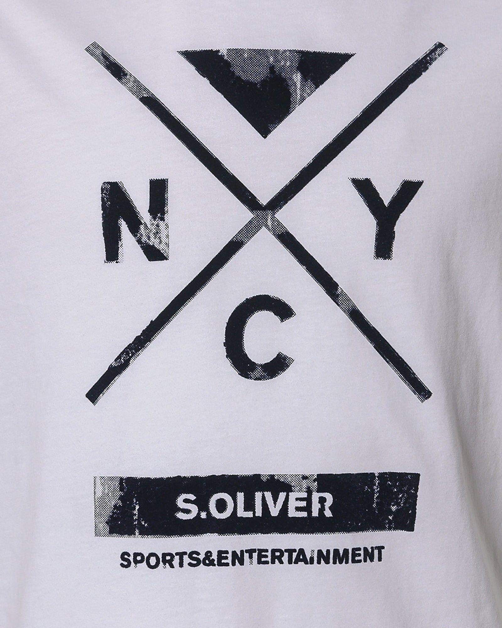 S Oliver Junior T Shirt Jungen Marine Grau Weiss Grosse 176 Kinder T Shirt S Oliver Und T Shirt