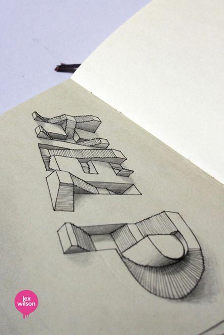 3d typo treppauf treppab pinterest 3d schrift die bild und britisch. Black Bedroom Furniture Sets. Home Design Ideas