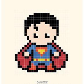 Superman Perler Bead Pattern Más Hama Beads Patterns
