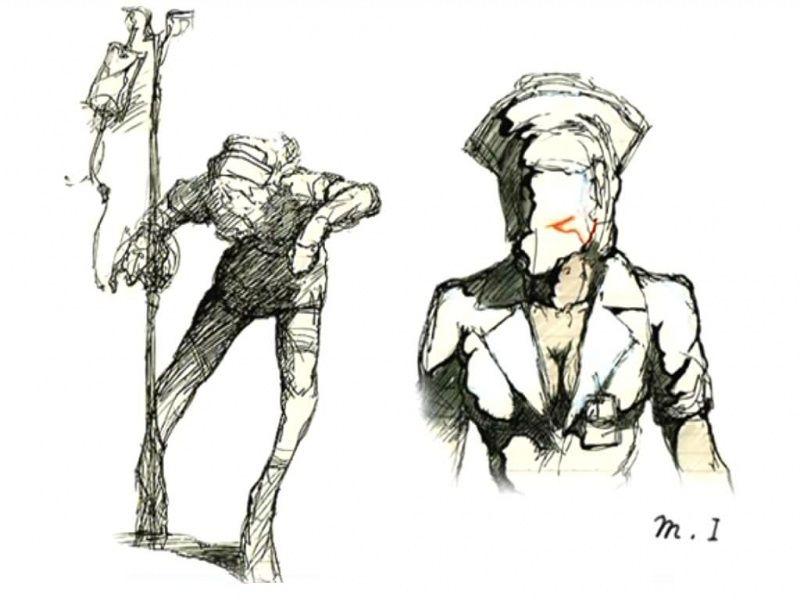 Silent Hill 2 Concept Art Bubble Head Nurse Design Silent Hill