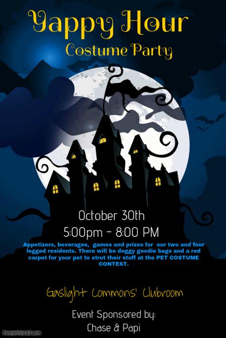 Halloween Yappy Hour! Pet Costume Contest! Halloween