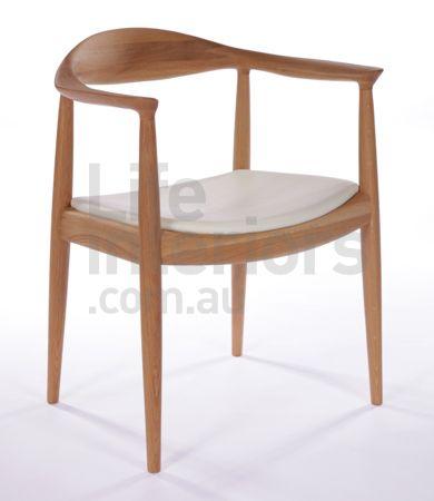 Replica PP503 Hans Wegner 'Round' Timber Dining Chair - Life Interiors ...