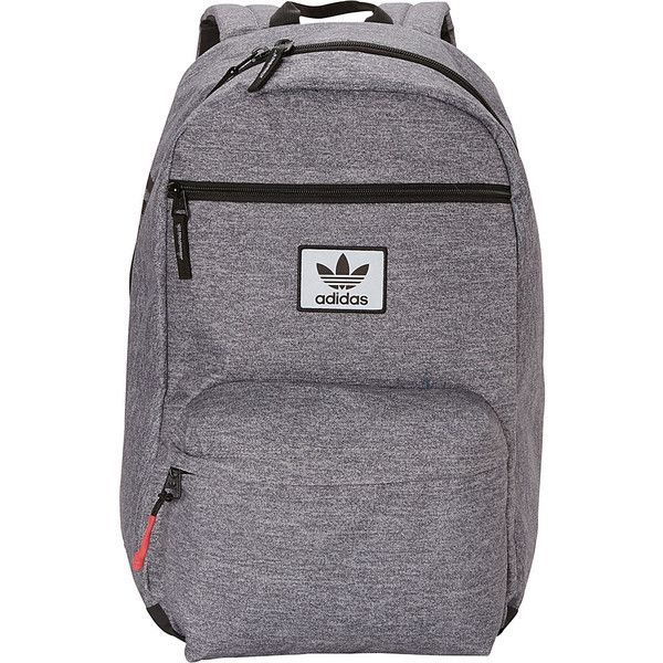 adidas Originals National Laptop Backpack - Heather... (€32) ❤ liked 1cdedffe9514b