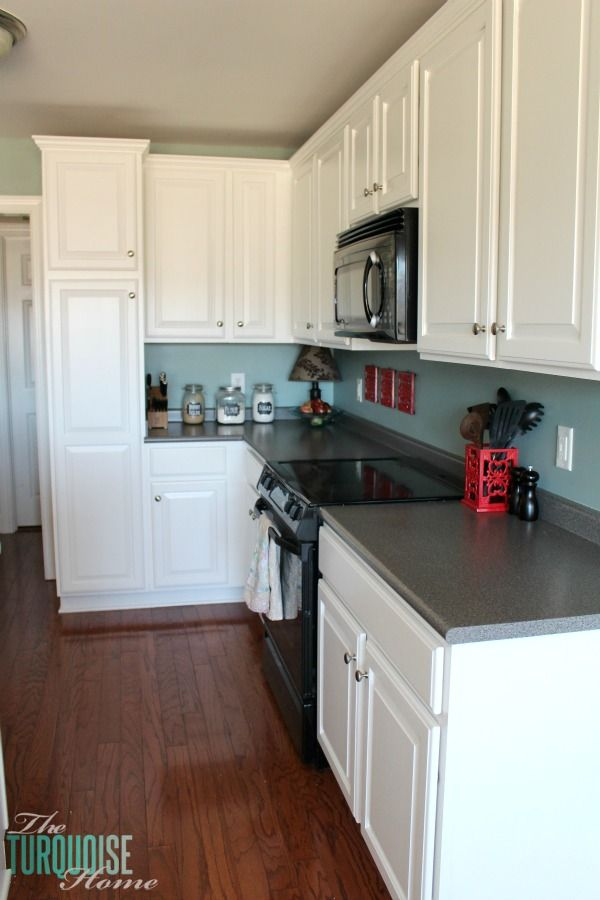 Diy Painted Kitchen Cabinets With Simply White From Benjamin Moore Enchanting Refinishing Kitchen Cabinets 2018