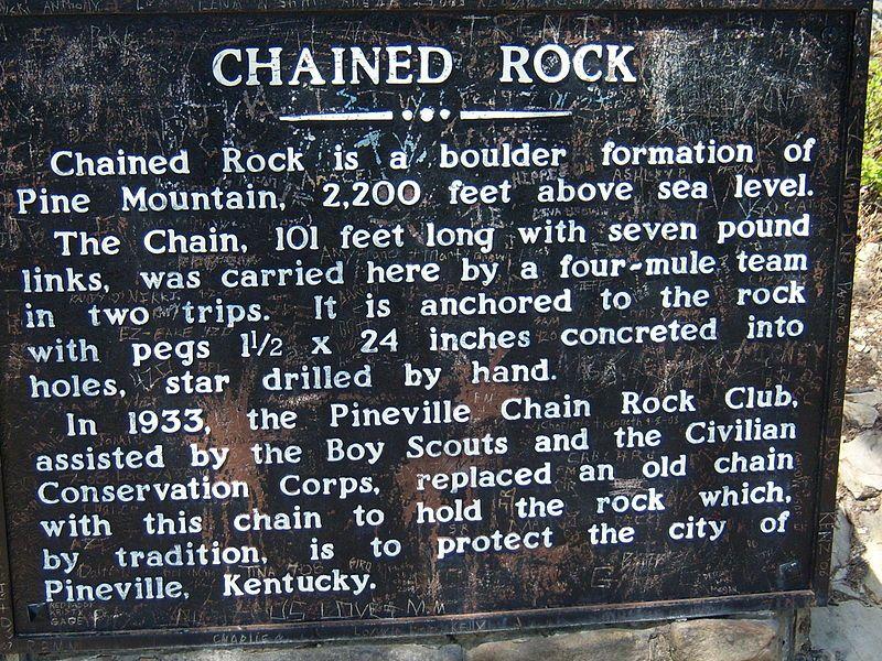 chain rock kentucky Pine Mountain State