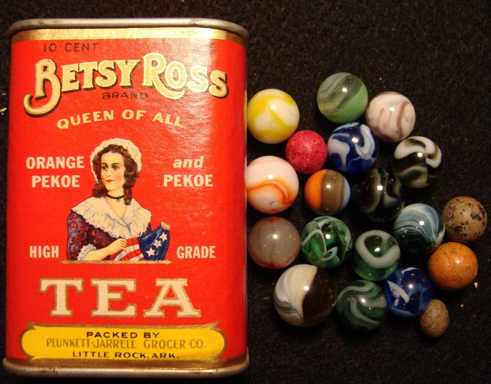 ANTIQUE BETSY ROSS TIN BANK LITTLE ROCK ARK VINTAGE GLASS TOY OLD MARBLES GLASS  picclick.com