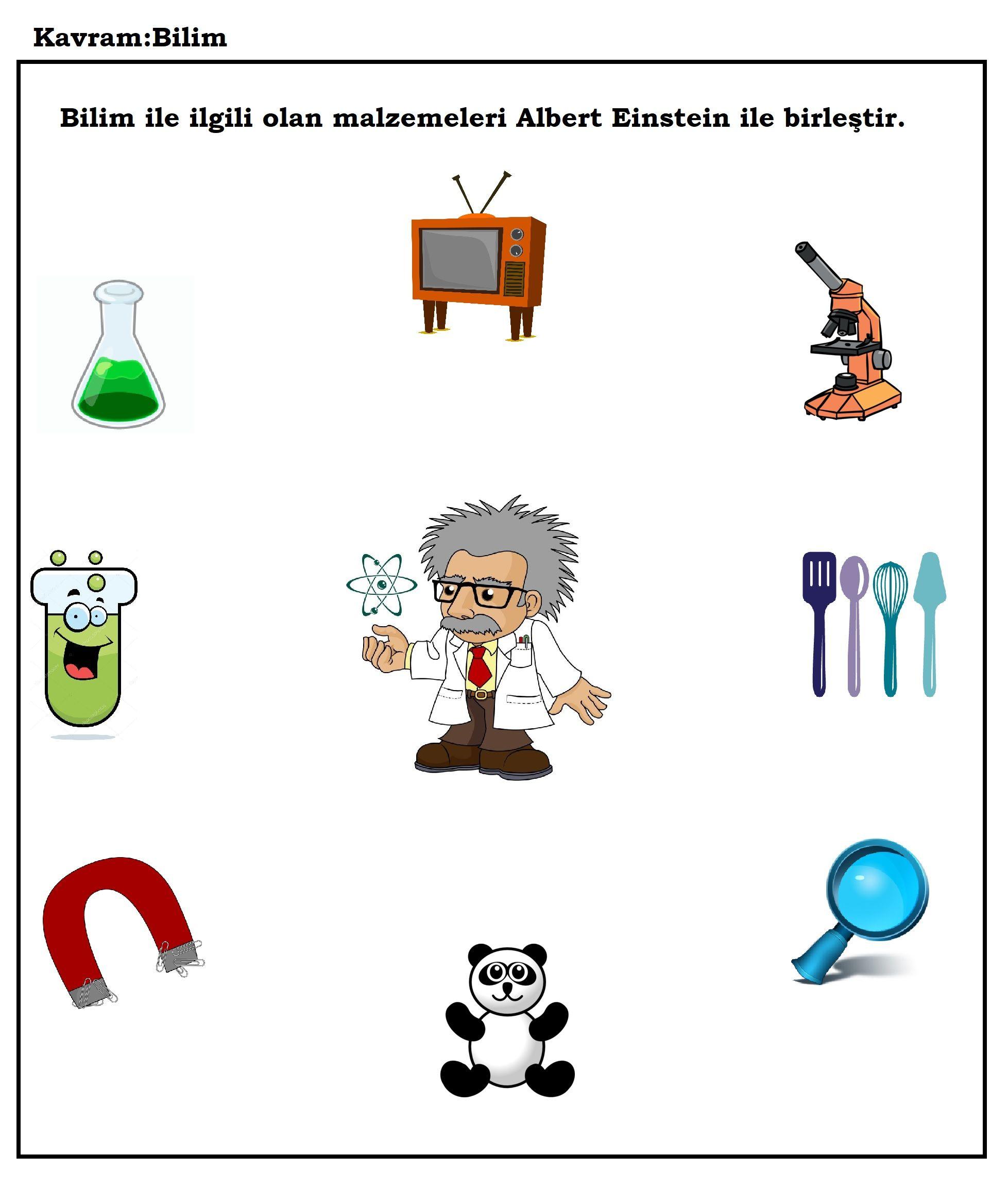 Okul Oncesi Bilim Kavrami Ve Albert Einstein Goruntuler Ile
