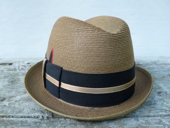 5afcf2bda Vintage Mens Fedora Hat Dunlap Supreme Milan Braid Straw 1930's ...