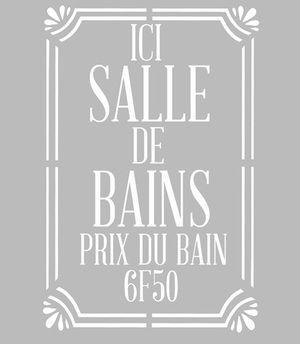 ce pochoir adhsif repositionnable de fabrication artisanale franaise dans une matire pvc grise souple - Pochoir Salle De Bain