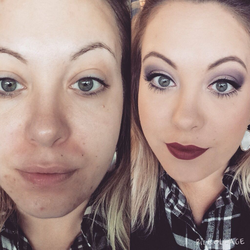 Real life before & after of what Merle Norman Cosmetics