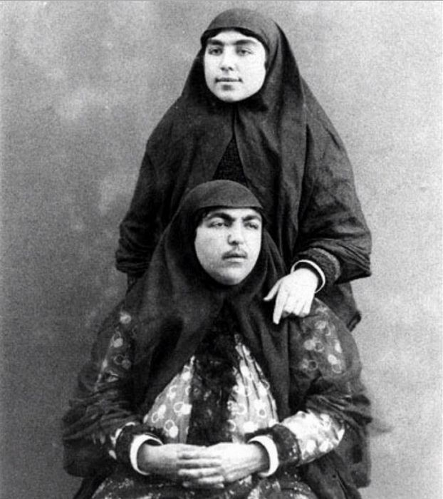 This is Naser al-Din Shah Qajar, and educated man and a sybarite.        Qajar loved photography. This is him and Antoin Sevruguin, Qajar's...