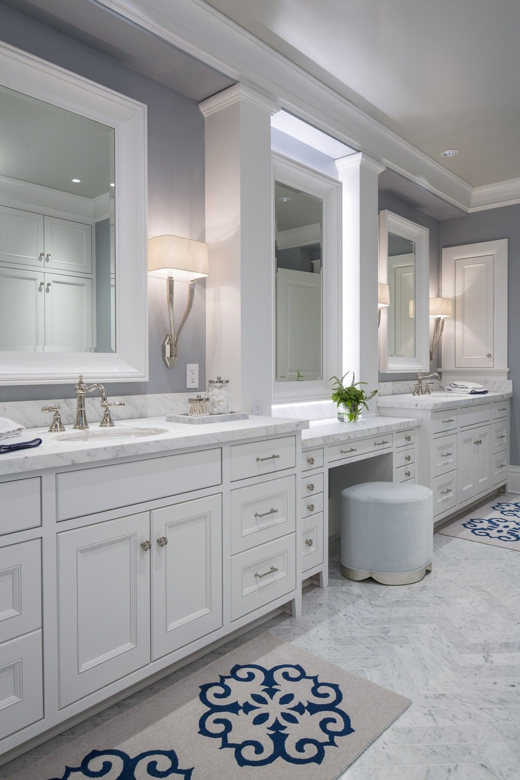 His And Hers Bathroom Organization Double Sinks