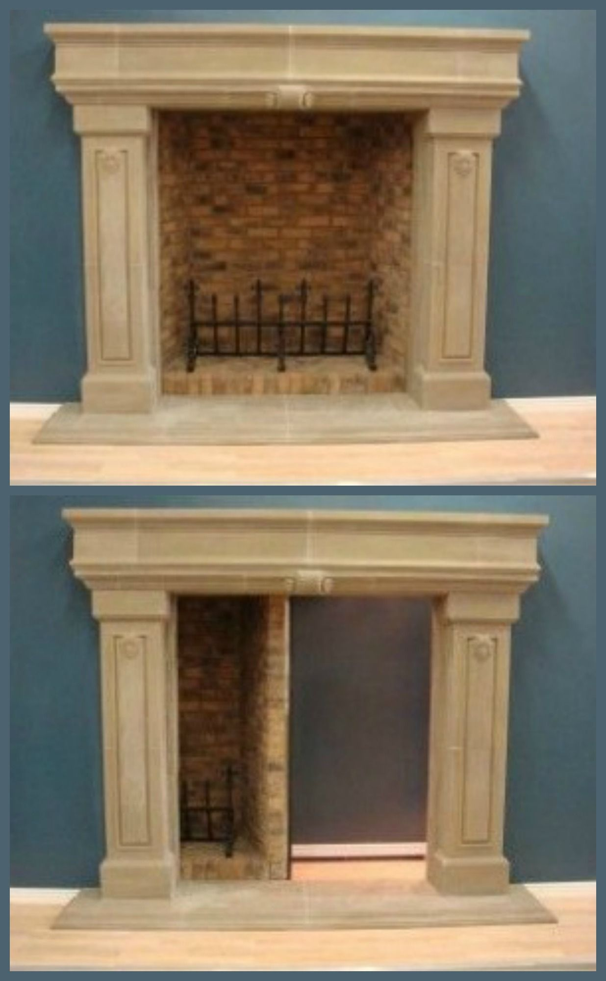 Secret Room Behind The Fireplace Diy Home Security Ideas