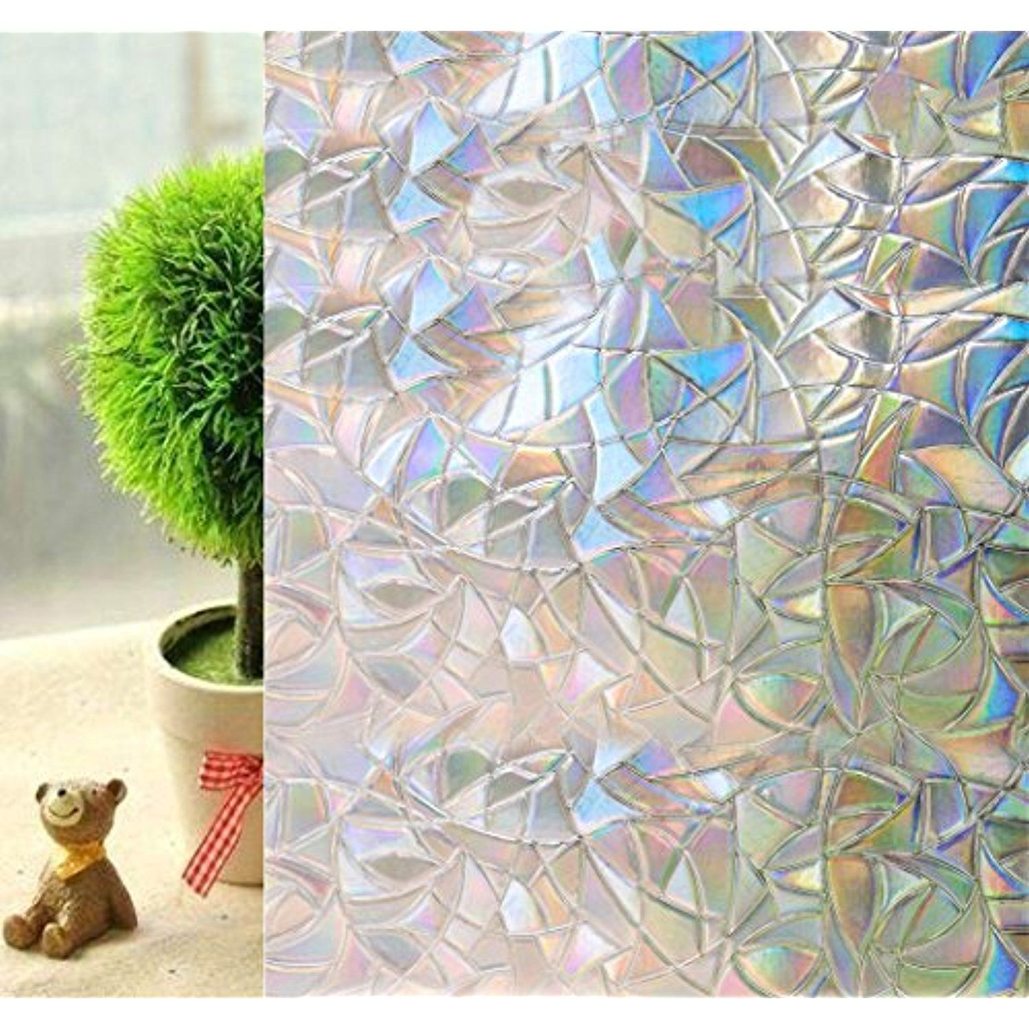Frosted Contact Paper Door Covering Window Film Cling For Privacy
