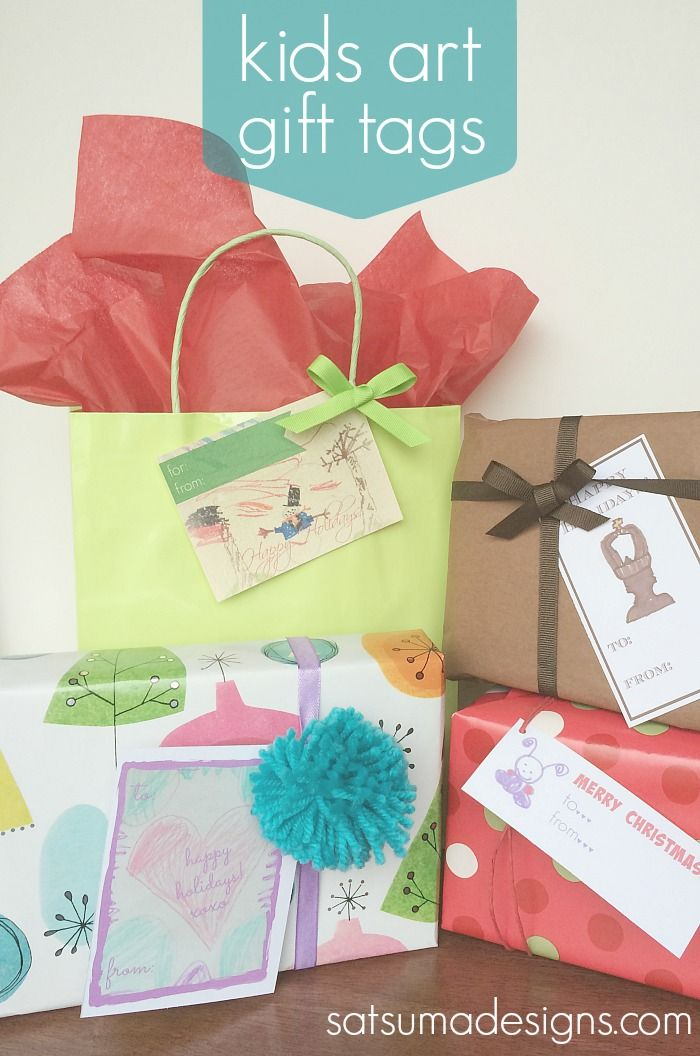 Diy gift tags from kids art gift diy gift tags from kids art solutioingenieria Images