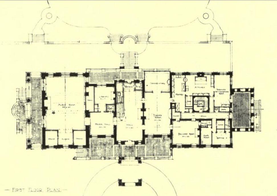 Winfield House London Floor Plan House Design Plans