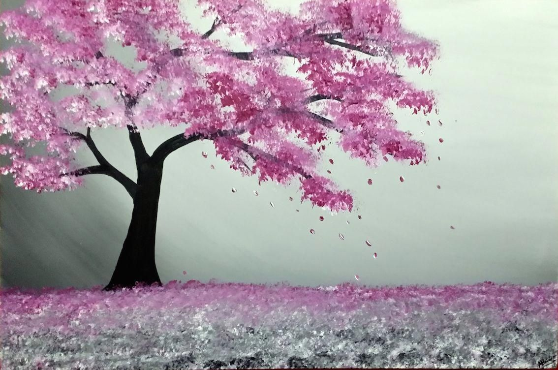 Majestic Blossom Tree 206491 Paintings For Sale Cherry Blossom Painting Cherry Blossom Art Anime Cherry Blossom