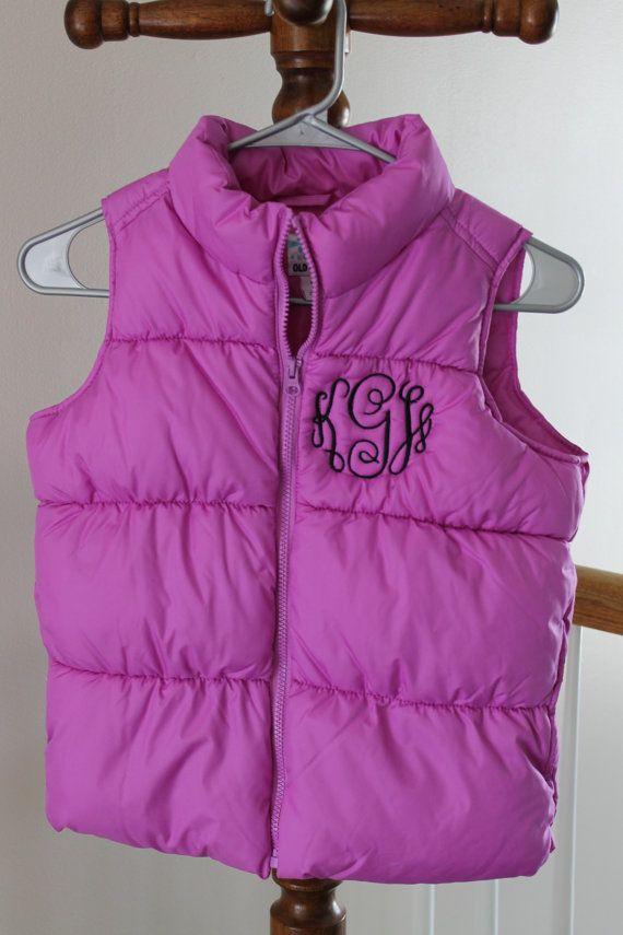 bcc4ca5cd1ce Children s puffy vest with monogram