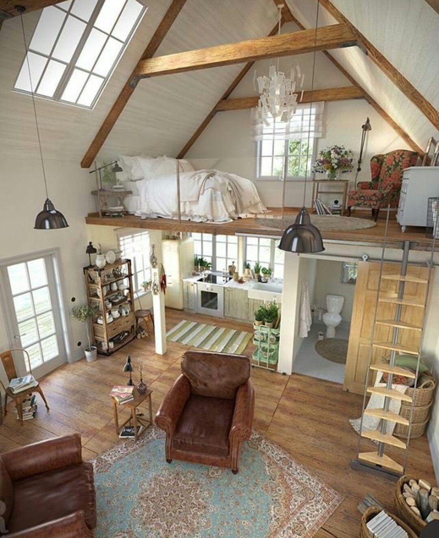 Mini casa com mesanino