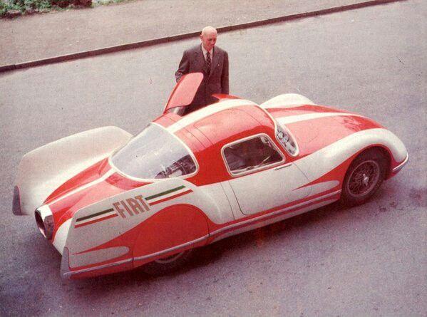 Fiat Turbina, experimental turbine-powered car, 1954.
