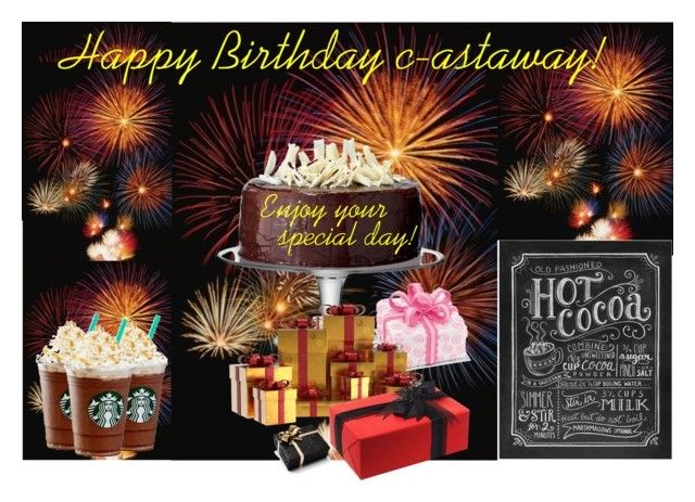 """""""Set #1187 - Happy Birthday, c-astaway!"""" by the-walking-doctor ❤ liked on Polyvore featuring art"""
