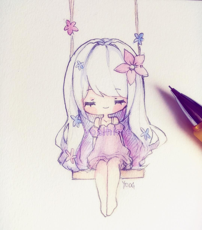 Caloroso kawaii pinterest doodle sketch chibi for Small art drawings