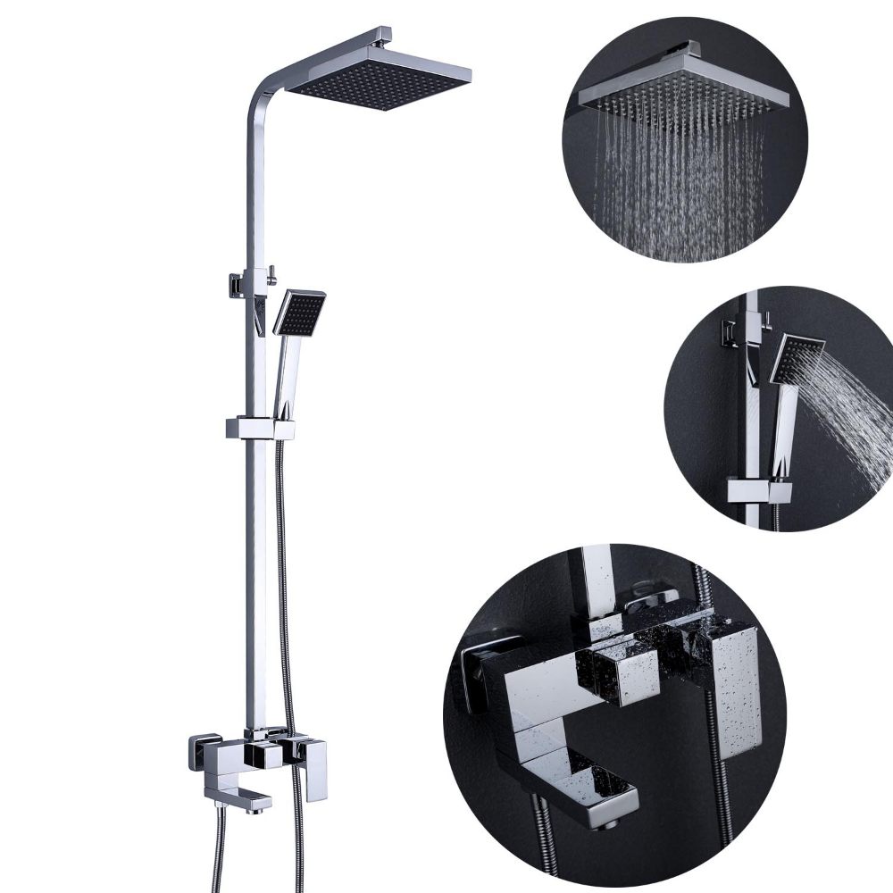 Modern Chrome Shower Faucet System In 2020 Shower Faucet Shower