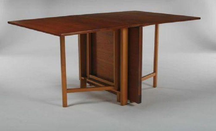 Folding dining table for lovely small space space saving - Slim folding dining table ...