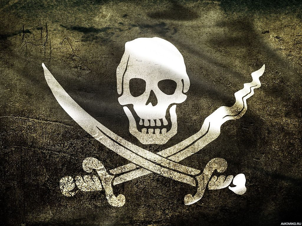 телефонной картинка черепа на пиратском флаге крови
