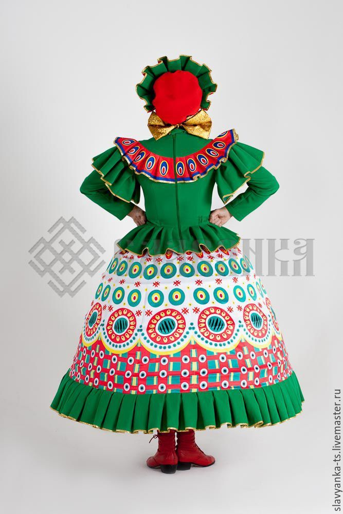 Дымковская игрушка. Театральный костюм.Танцевальный костюм ...