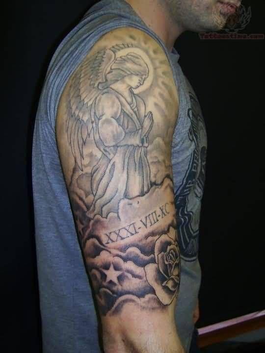 Half Sleeve Tattoos Angels