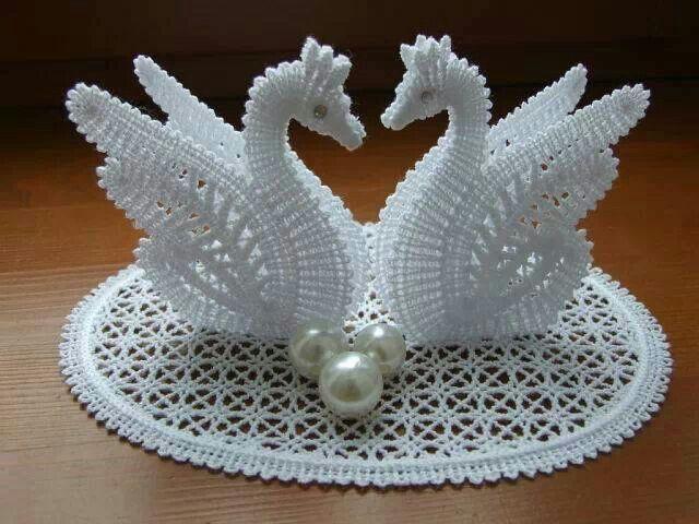 Crochet swans from facebook | CISNES | Pinterest | Cisnes, Tejido y ...
