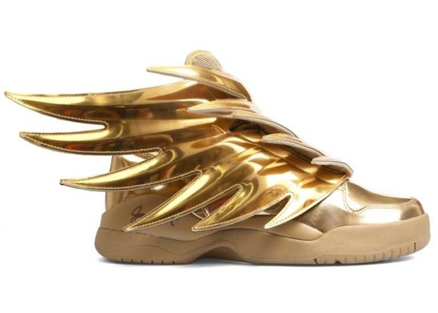best website cb423 fa074 adidas JS Wings Solid Gold