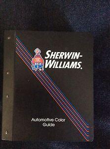 Sherwin Williams Automotive Color Guide Huge Book Auto