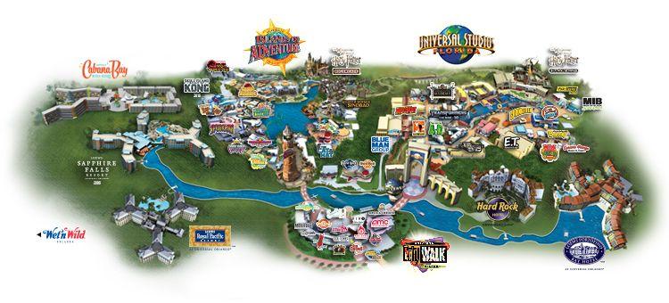 Universal Orlando Resort Tickets Universal Studios Orlando Map