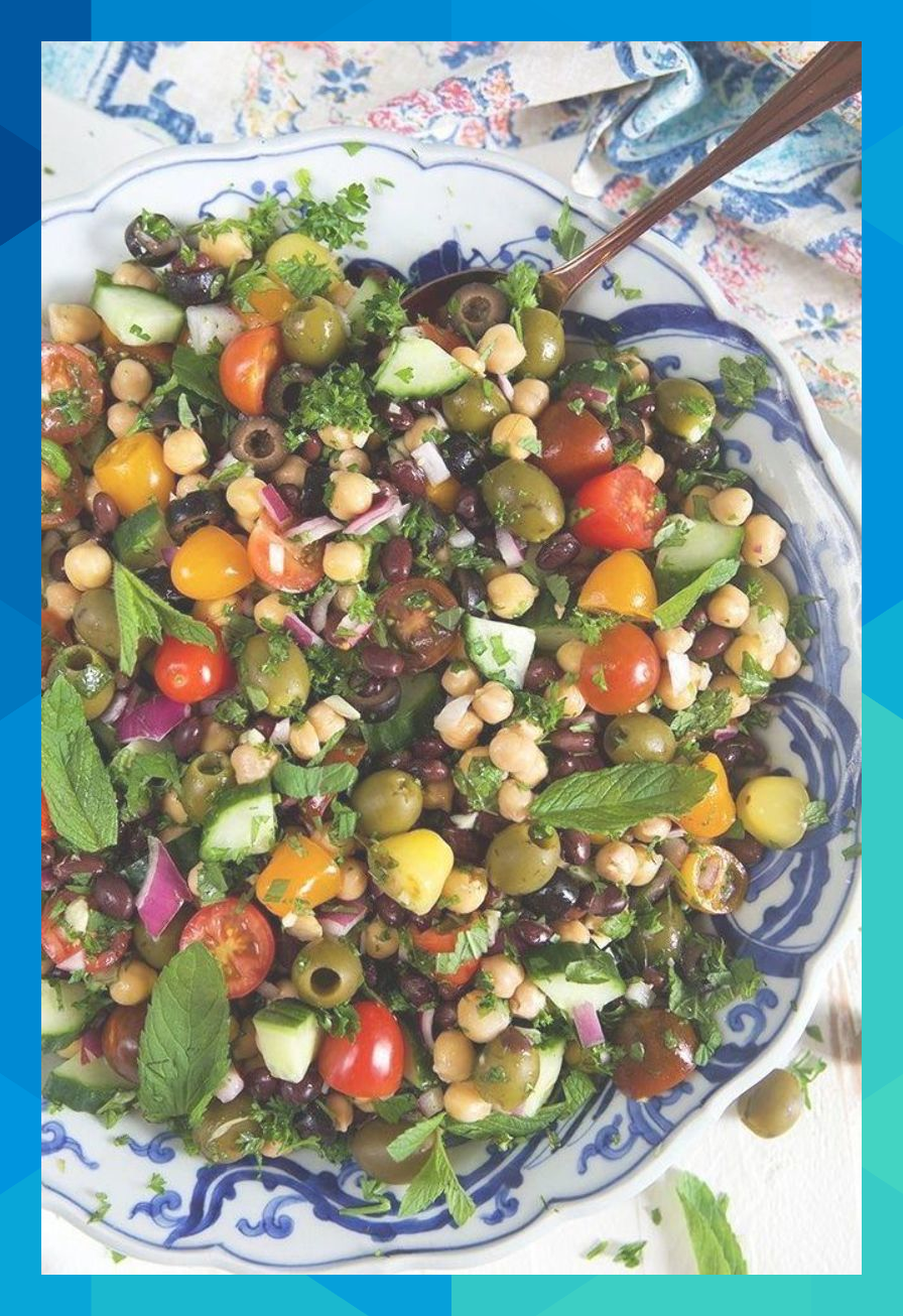 Mediterranean Chickpea Salad is the BEST Side dish for summer!   @suburbansoapbox