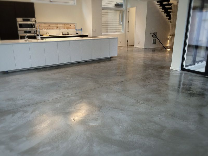 A Beautifully Burnished Concrete Floor Gives You A Solid