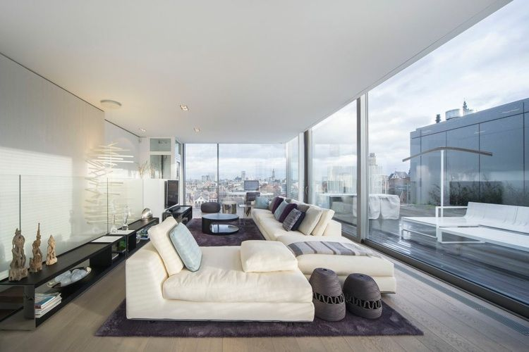 Apartment Einrichtung weiße apartment möbel minimalistische einrichtung in belgien