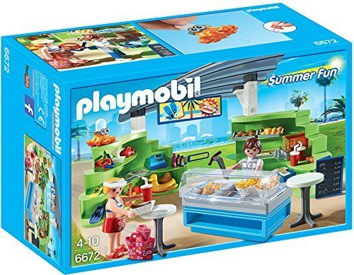 Playmobil - 310554 - 6672 Summer Fun - Espace Boutique Et Fast - Food  Playmobil http cad0ef80985