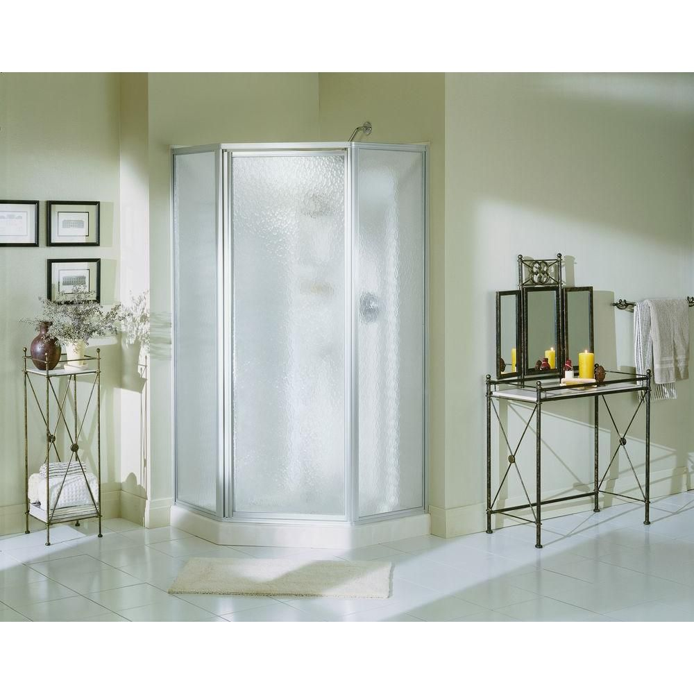 Sterling Economy 38 In X 38 In X 72 In Corner Shower Kit With