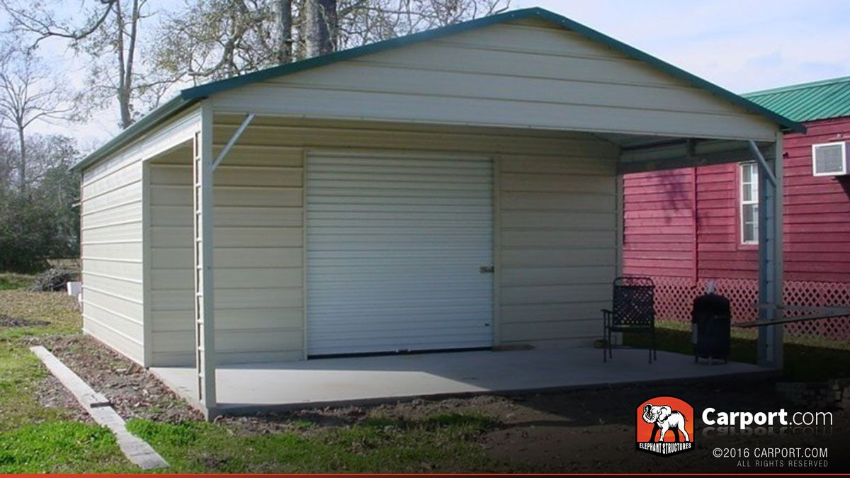 20x26 Metal Garage Metal Garages Garage Door Design Garage Door Types