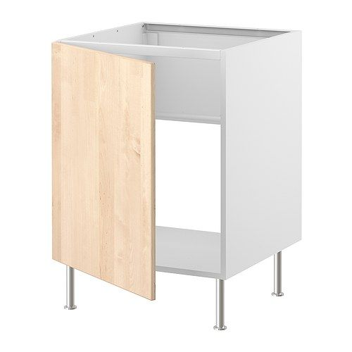 Ikea Kitchen Birch: FAKTUM Base Cabinet For Sink - Nexus Birch Veneer - IKEA