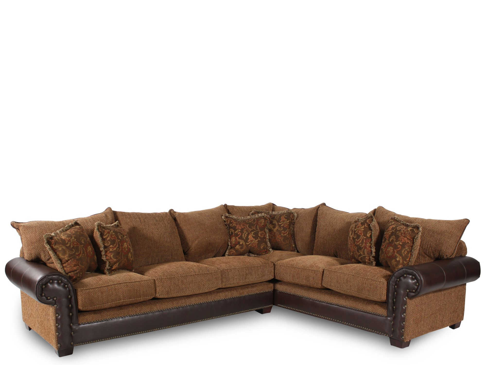 Really Like The Studded Leather Look With Images Sectional